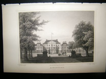Holland Netherlands C1850's Antique Print. Apeldoorn | Albion Prints